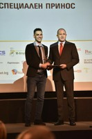 Президентът Румен Радев връчи Наградата на БАИT за специален принос за 2018 г. на Дарин Маджаров, основател на Уча.се